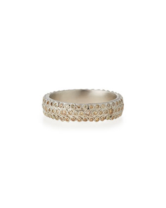 New World Champagne Diamond Eternity Stack Ring