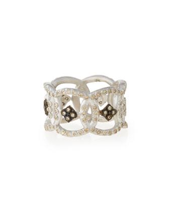 New World Open Circle Diamond Band Ring