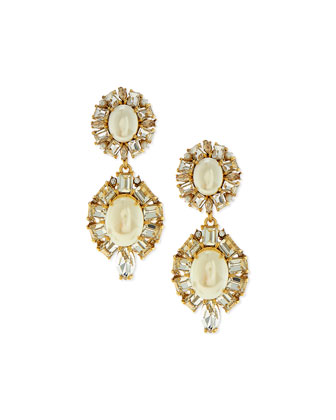 pearly statement drop earrings
