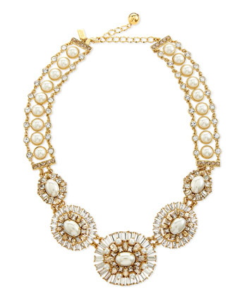 pearly bead statement necklace