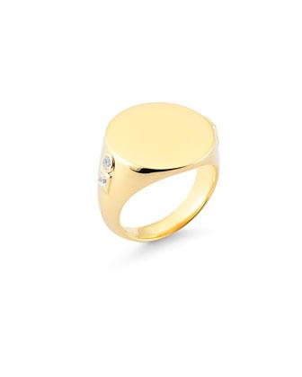 Ollie Serra Signet White Sapphire Ring