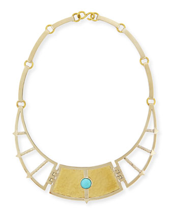 Sueño Frida Breastplate Necklace with Turquoise