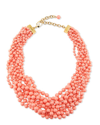Multi Strand Braided Pearly Necklace