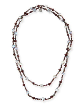 Verona Long Freshwater Pearl Necklace, 46