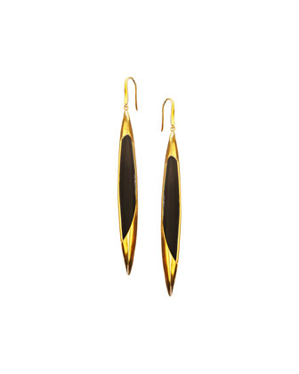14k Elite Jet Spike Onyx Earrings