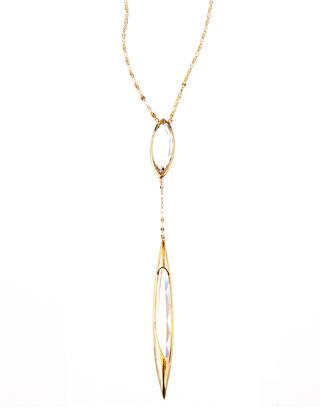 14k Elite Jetset Crystal Dangle Necklace
