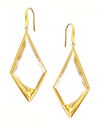 14k Elite Jetset Crystal Dangle Earrings
