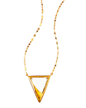 14k Elite Jetset Crystal Charm Necklace