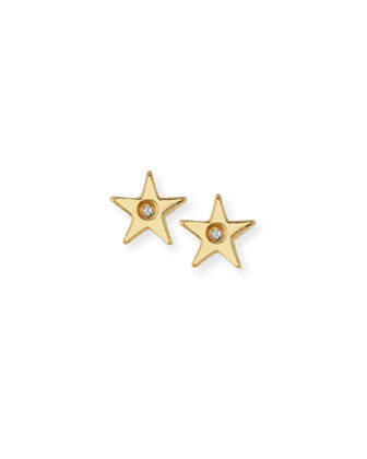 Star Bezel-Diamond Stud Earrings
