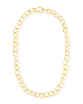 Hammered Oval-Link Chain Necklace, 18