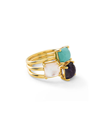 18k Rock Candy® 3-Stone Cocktail Ring