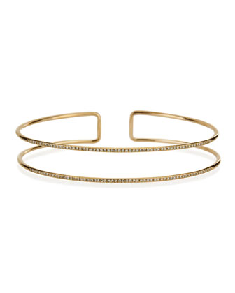 Diamond Double Bangle Bracelet