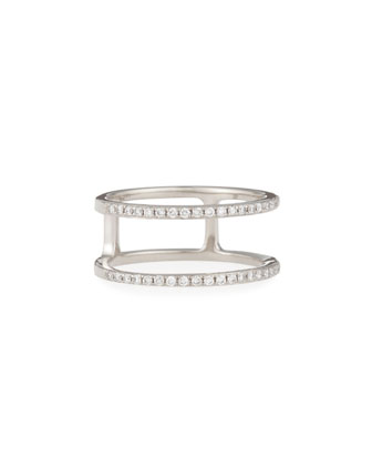 Diamond Double Spiral Ring