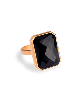 Stargaze Black Onyx Smart Ring