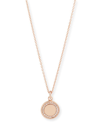 Cosmos 14K Rose-Gold Pavé Diamond Locket Necklace, 18