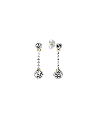 Sterling Silver Caviar Ball Drop Earrings