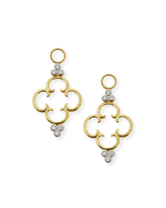 18k Clover Diamond Earring Charms