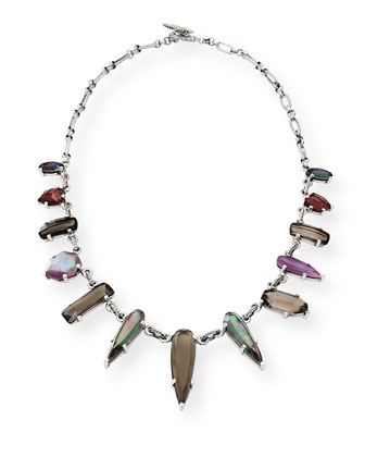 Verona Silver Triplet Collar Necklace