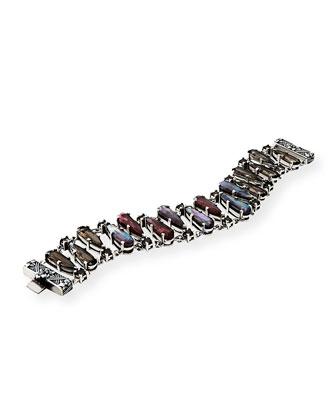 Verona Pear-Shape Triplet Link Bracelet