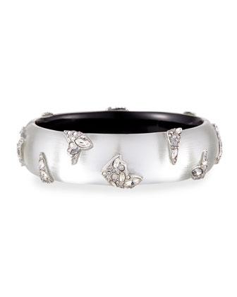 Shattered Metal Crystal Cuff Bracelet