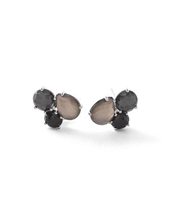 Rock Candy® Cluster Black Tie Earrings