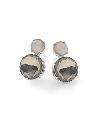 Rock Candy® Two-Stone Earrings in Quartz/Pyrite