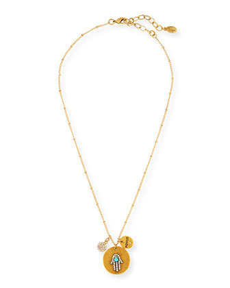 22K Gold-Plated Talisman Pendant Necklace