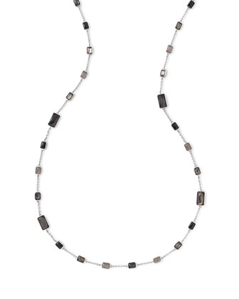 Rock Candy® Black Tie Station Necklace, 50