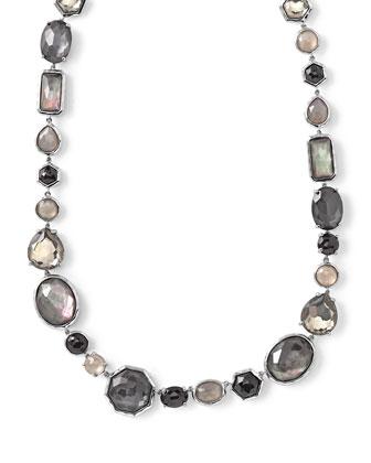 Rock Candy?? Black Tie Strand Necklace, 16.5