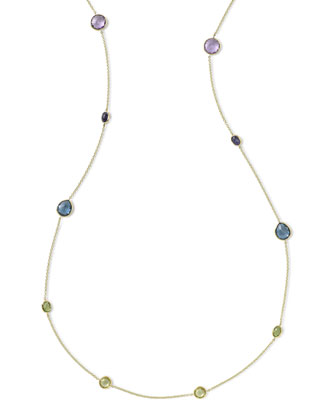 18k Rock Candy?? Fall Rainbow Station Necklace, 42