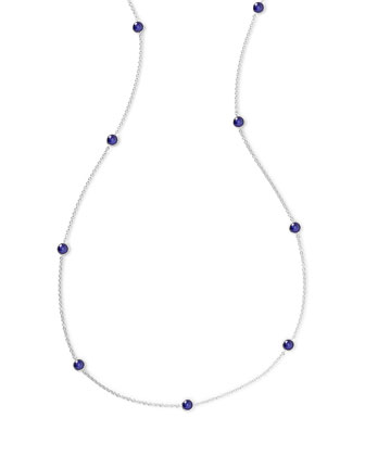 925 Rock Candy Long Station Necklace in Lapis, 48