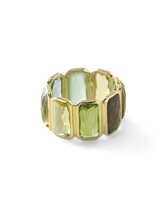 18k Rock Candy Fancy Rectangle Lollipop Ring in Mountain