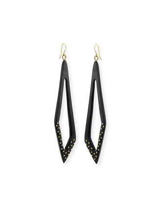 Huru Dark Horn Dotty Earrings