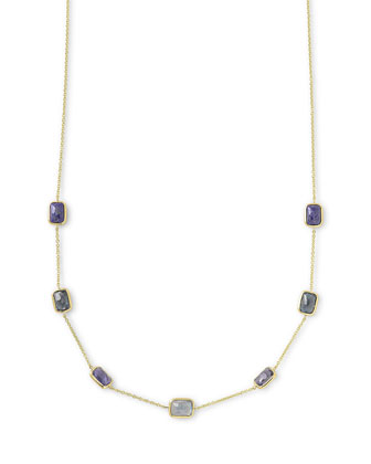 18k Rock Candy?? Mini Rectangle Liberty Necklace, 16-18