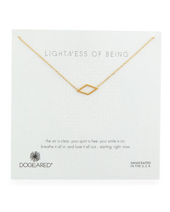 Lightness of Being Diamond-Shaped Pendant Necklace