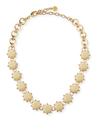 Circle Line Necklace, Bone