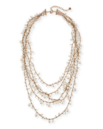 Multi-Strand Pearly Necklace
