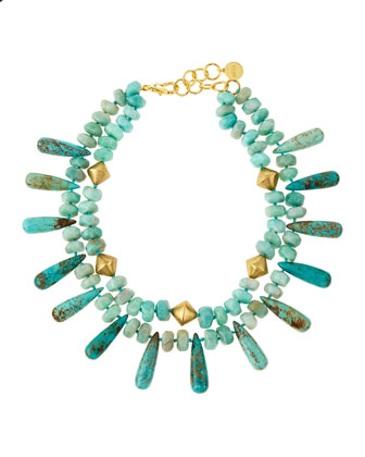 Amazonite and Turquoise Double-Strand Necklace
