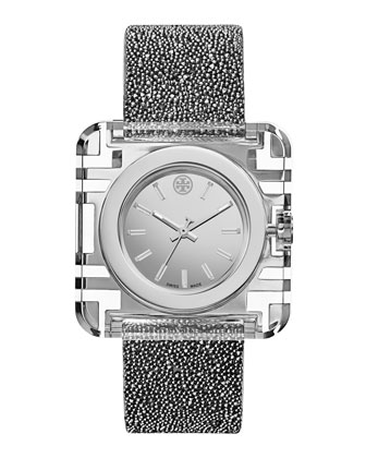 Izzie 36mm Stainless Steel Watch, Silvertone