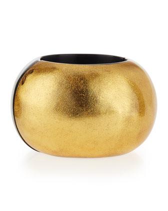 Gold Foil Stretch Bangle Bracelet