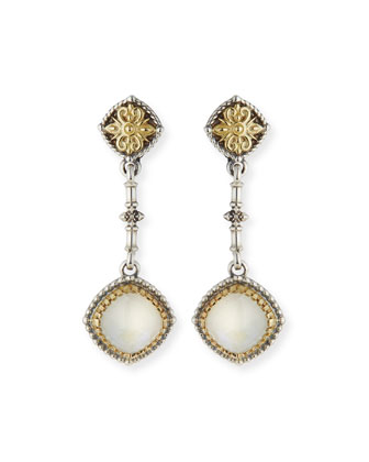 Erato Cabochon Drop Earrings