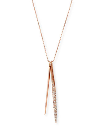 Encrusted Spear Pendant Necklace