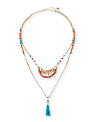 Double-Strand Tribal Necklace