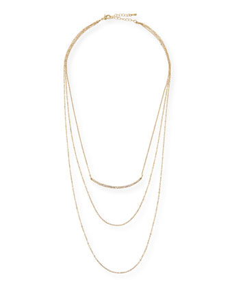 Triple-Layer Pavé Bar Necklace