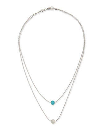 Twin Oracle Double-Strand Necklace