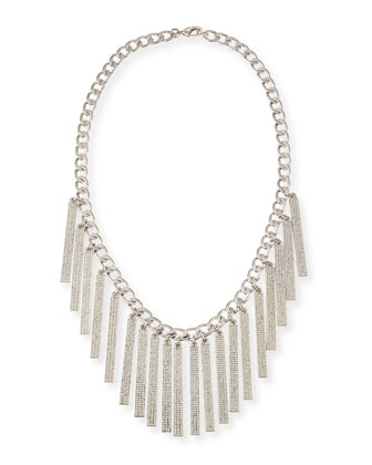 Runway ID Statement Necklace, Silver