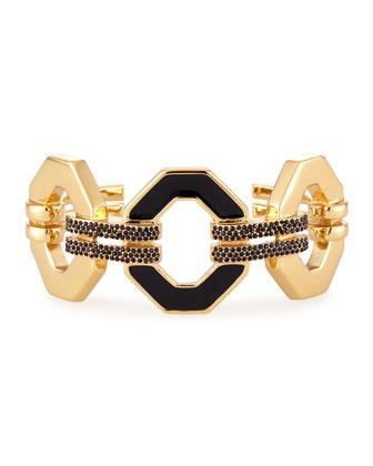 Pavé Cuff Bracelet, Gold