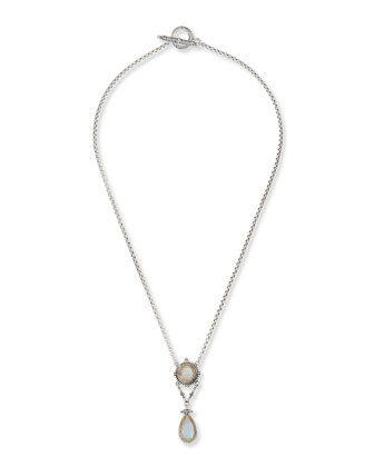 Erato Labradorite Teardrop Necklace