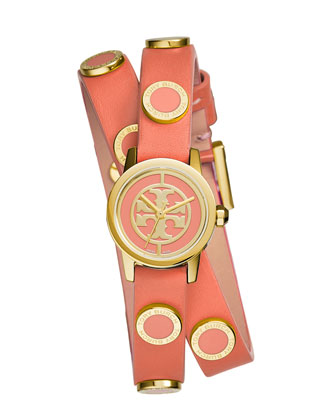 Reva Mini Double-Wrap Leather Watch