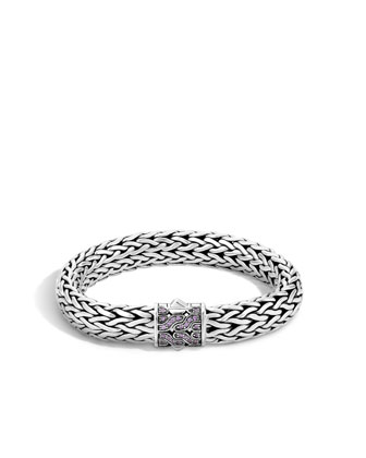 40th Anniversary Classic Chain Large Lava Bracelet w/Pink Sapphire